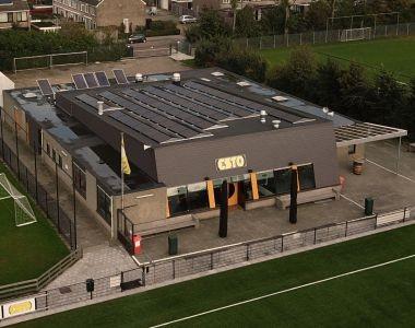 MB Zonnepanelen Bodegraven Voetbalvereniging ESTO Plat dak