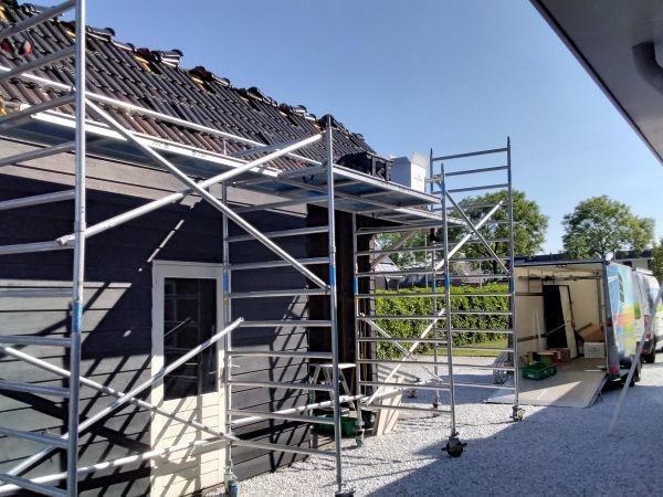 MB Zonnepanelen Bodegraven Schuur valbeveiliging veilig werken op hoogte